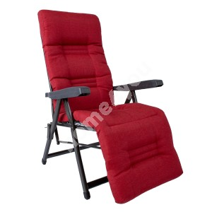 Deck chair CERVINO red