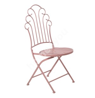 Стул ROSY складной 55,5x45x93,5см, кованое железо, розовый