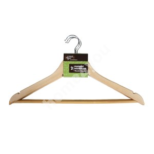 Cloth hangers 3pcs/set, natural wood