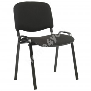 Guest chair ISO 54,5xD42,5xH82/47cm, seat: fabric, color: black, frame: black