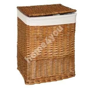 Laundry basket MAX, 45x34xH59cm, weave, color: light brown, with fabric