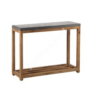 Shelf SANDSTONE 95,5x34,5xH75cm, grey fiber cement, wooden frame