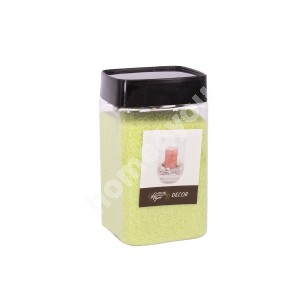 Color sand DECOR, light green, size: 1-2mm, weight: 450g