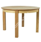 Обеденный стол CHICAGO с надставкой D120 / 160x120xH75см, столешница: МДФ с натуральным шпоном дуба, цвет: натуральный,