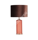 Laualamp LUXO, H58cm, oranz/ klaas, kuppel: pruun samet/ sisepind vaskne, E27