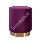 Tumba LA PERLA, D35xH42cm, kattematerjal: samet kangas, värv: lilla