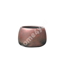 Flowerpot, low CUBO-1, D55xH37cm, bronze