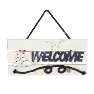 Uksesilt WELCOME, BEACH HOUSE 24x11cm