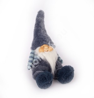 Istuv päkapikk BOB, sinine samet müts, H34cm
