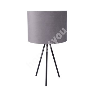 Laualamp TRINITY H42cm, kuppel: hall samet, jalad: mustad pulkjalad