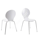Стул MARCUS 49x53xH87cм, сиденье и спинка: фанера, цвет: белый, ножки: хром