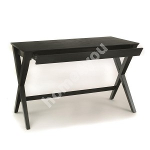Desk WRITEX 120x60xH75cm, drawer, material: oak, color: black