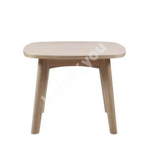 Side table MARTE 58x58xH49cm, material: solid wood/covered with oak veneer, finish: white pigmented oil