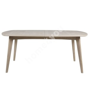 Dining table MARTE 180x102xH76cm, extendable, material: solid wood/covered with oak veneer, finish: oiled