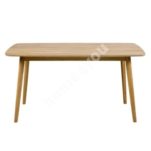 Dining table NAGANO 150x80xH75,5cm, table top: wood / covered with oak veneer, legs: solid wood, finish: oiled