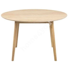 Dining table NAGANO D120xH75cm, table top: wood / covered with oak veneer, legs: solid wood, finish: oiled