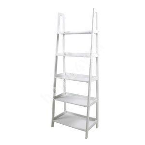Shelf WALLY 63x40xH180cm, 5-shelves, shelf panel and frame: color: white, finish: lacquered