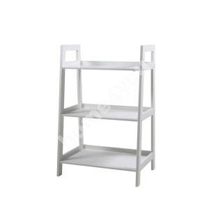 Shelf WALLY 63x40xH95cm, 3-shelves, shelf panel and frame: color: white, finish: lacquered