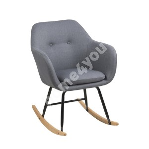 Rocking chair EMILIA 57x71xH81cm, seat and backrest: fabric, color: dark grey