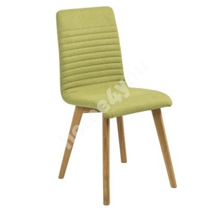 Chair AROSA 42x43xH90cm, seat and back: fabric, color: green, legs: oak, finish: oiled
