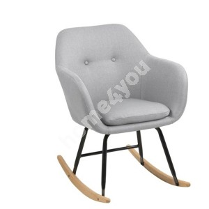 Rocking chair EMILIA 57x71xH81cm, seat and back: fabric Corsica, color: light grey