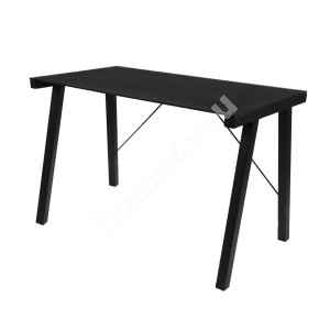 Desk TYPHOON 125x65xH77,5cm, table top: 8mm scratch resistant glass, color: black, legs: black metal