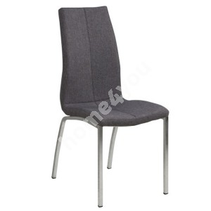 Chair ASAMA 43,5x57xH95cm, seat and back: fabric,  color: grey,  legs: chrome