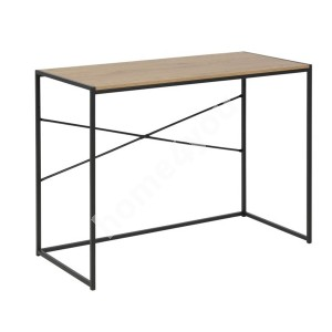 Desk SEAFORD 100x45xH75cm, material: particle board, color: oak, legs: black metal
