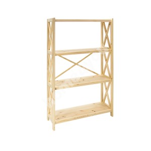 Shelf ALEX 4-tier 80x31xH123cm, natural