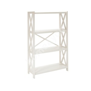 Shelf ALEX 4-tier 80x31xH123cm, white