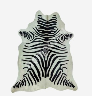 Cowhide SEBRA 3m², 170x180cm, black-white