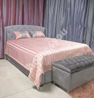 Päevatekk GREY & ROSE 240x240cm, roosa triip/hall, 100%polüester, kangas 844, 846