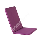 Seat/back cushion OHIO waterproof, 50x120x2,5cm purple