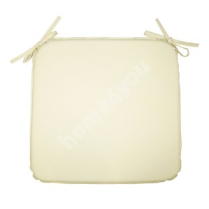 Chair pad OHIO waterproof, 39x39x2,5cm natural white