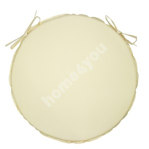 Chair pad OHIO waterproof, D38x2,5cm natural white