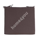 Chair pad FRANKFURY 2, 43x38xH2,5cm, brown, 100%polyester, fabric 837