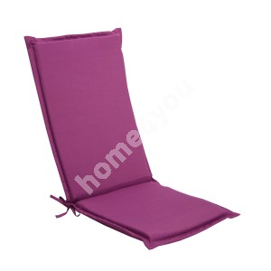 Chair pad SUMMER with back rest, 48x115x4,5cm, fabric 627, 100% polyester