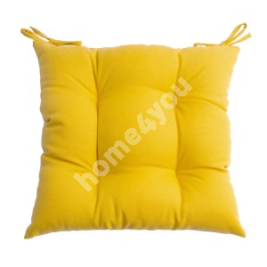 Chair pad FRANKFURY 2, 40x40cm, filled with polyester fiber, yellow, 100%polyester, fabric 838