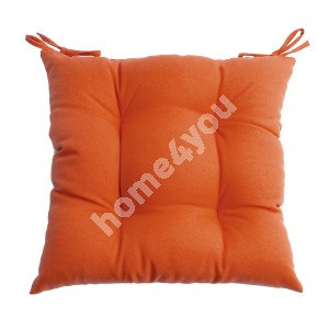 Chair pad FRANKFURY 2, 40x40cm, filled with polyester fiber, orange, 100%polyester, fabric 839