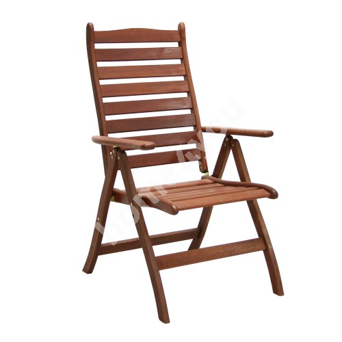 Chair BORDEAUX 60x68xH110cm, foldable, adjustable back rest, wood: meranti, finishing: oiled