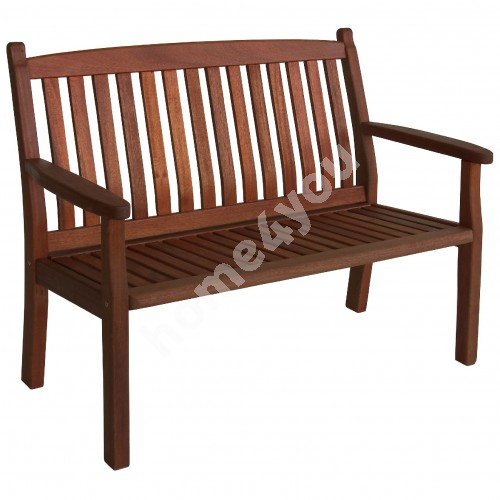 Bench WINDSOR 2-seater, 116x64xH95cm, wood: meranti, finishing: oiled
