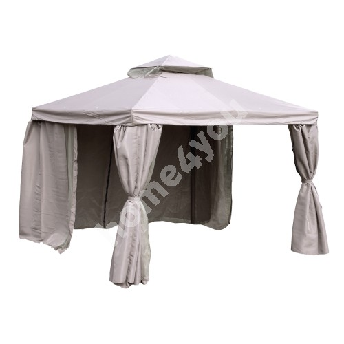 Gazebo LEGEND 3x3m, aluminum frame, roof and side walls: polyester fabric, color: beige