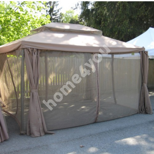 Set of mosquito nets for gazebo LEGEND 3x4m with plastic hooks