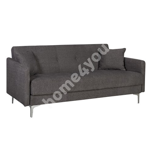 Sofa bed LOGAN with bedding box 199x86xH90cm, cover material: fabric, color: brown