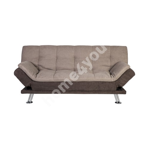 Sofa bed ROXY 189x88xH91cm, cover material: fabric, color: beige - brown