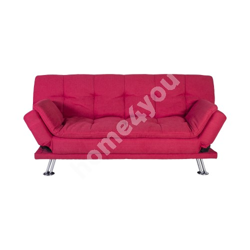 Sofa bed ROXY 189x88xH91cm, cover material: fabric, color: red