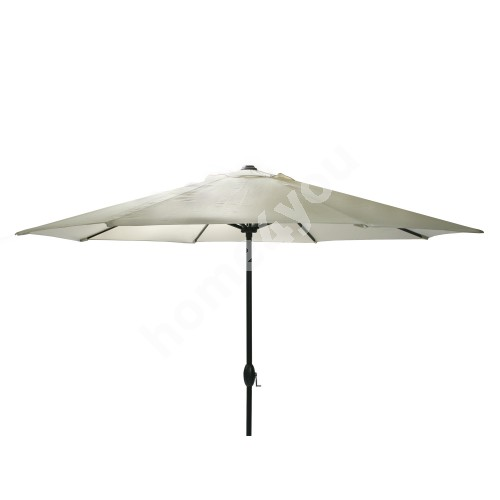 Parasol PARMA D3m, with crank, aluminum leg, color: black, cover: polyester fabric, color: beige