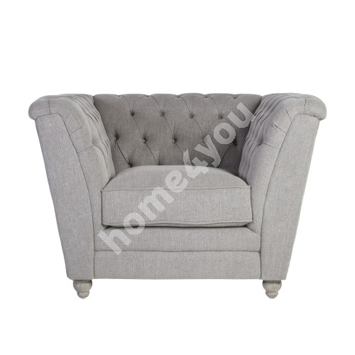 Armchair WATSON 115x88xH88cm, cover material: fabric, color: greyish beige