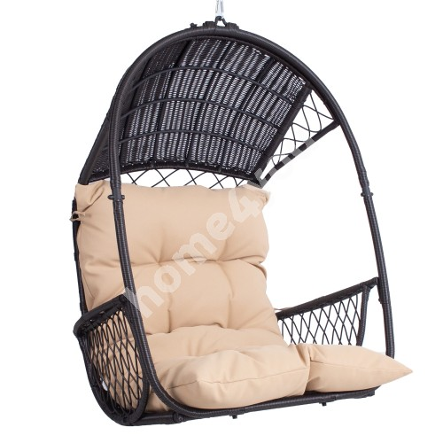 Hanging chair TANJA dark brown