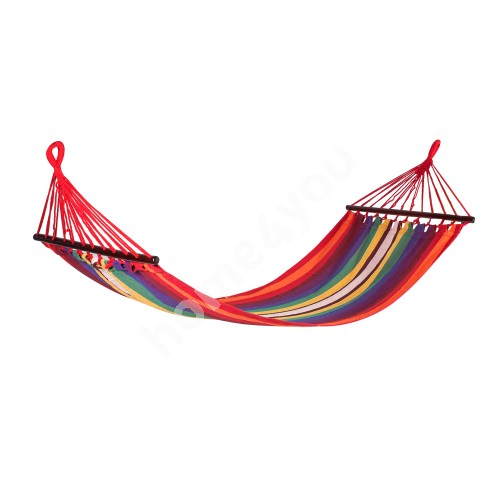 Hammock RIINA, 200x80cm, material: cotton, color: red striped